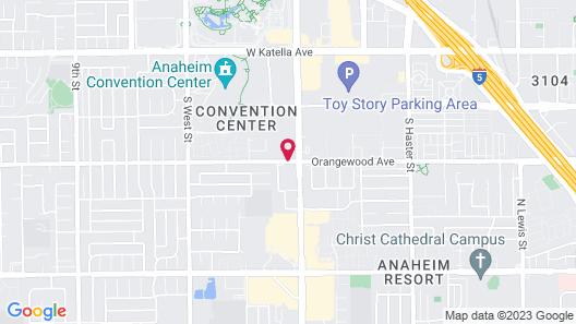 Anaheim Express Inn Map