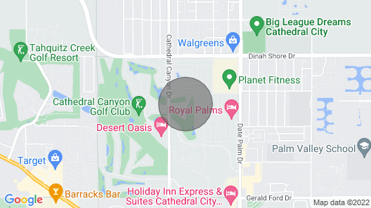 New Listing Charming Condo at Cathedral Canyon Country Club Map