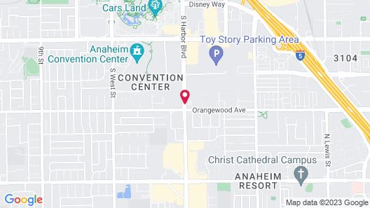Travelodge by Wyndham Anaheim Convention Center Map