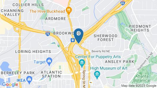 Motel 6 Atlanta, GA - Midtown Map