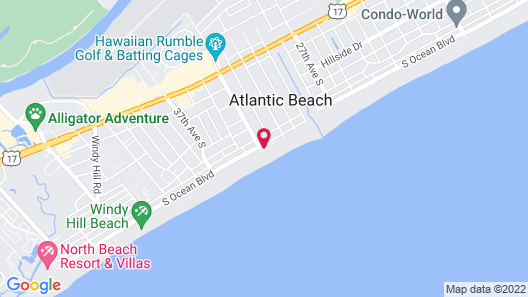 Windy Shores II by Capital Vacations Map