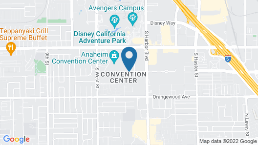 Anaheim Marriott Hotel Map