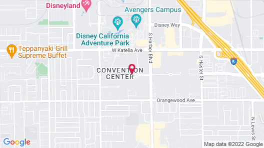 Hilton Anaheim Map