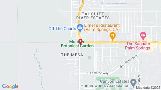 Rodeway Inn Palm Springs Downtown Map