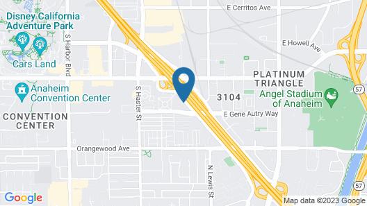 Sonesta Anaheim Resort Area Map