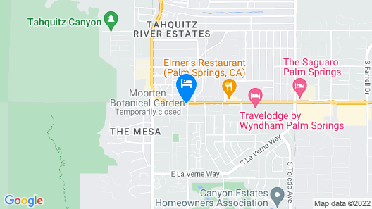 Motel 6 Palm Springs, CA - East - Palm Canyon Map