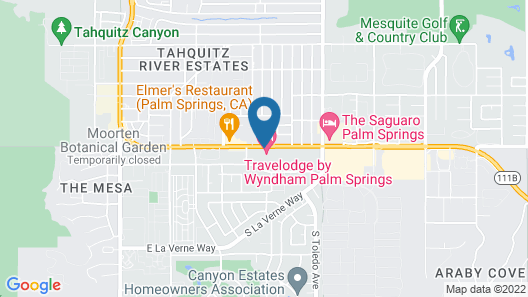 Travelodge by Wyndham Palm Springs Map