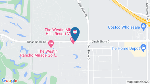 The Westin Mission Hills Resort Villas-Palm Springs Map