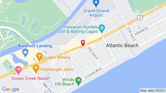 Comfort Inn N Myrtle Beach Barefoot Landing Map