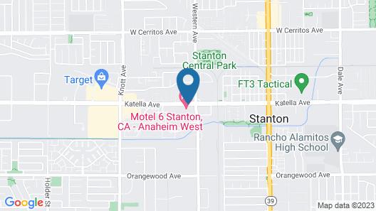 Motel 6 Stanton, CA Map
