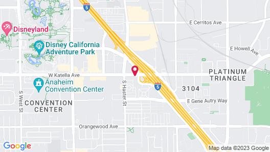 Comfort Inn Anaheim Resort Map