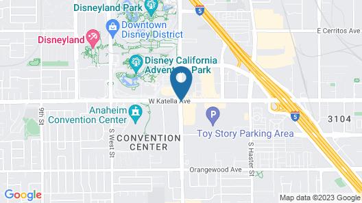 Hyatt House at Anaheim Resort/Convention Center Map