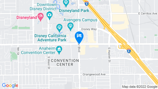 Hyatt House at Anaheim Resort/Convention Center Map