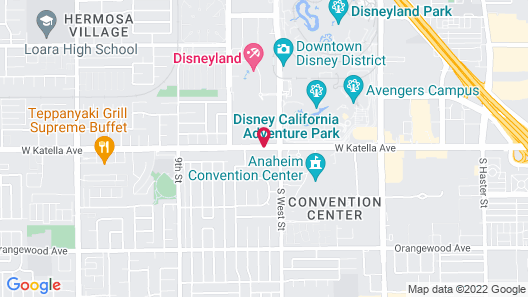 Anaheim Discovery Inn & Suites Map