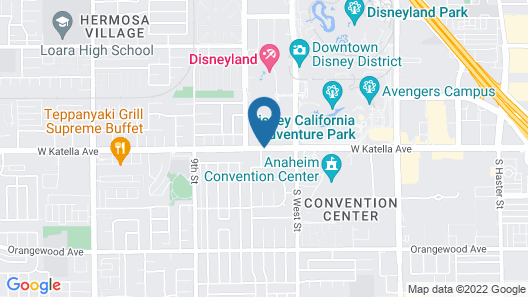 Quality Inn & Suites Anaheim At The Park Map