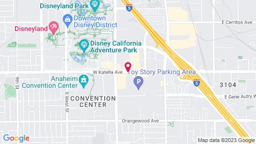 Anaheim Islander Inn and Suites Map