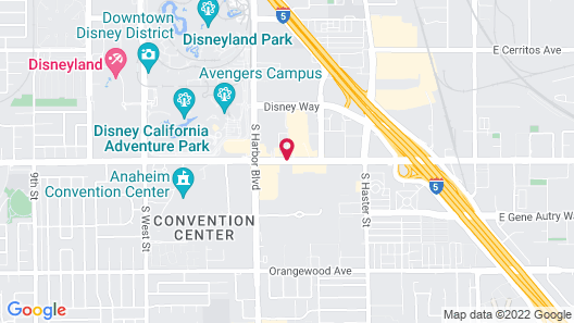 Kings Inn Anaheim at the Park & Convention Center Map