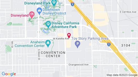 Wyndham Anaheim Map