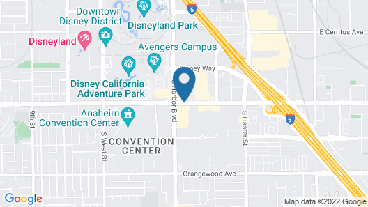 Wyndham Anaheim Map