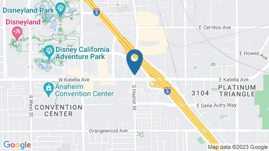 Cambria Hotel Anaheim Resort Area Map