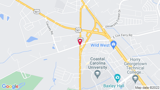 Ramada Limited Conway, SC Map