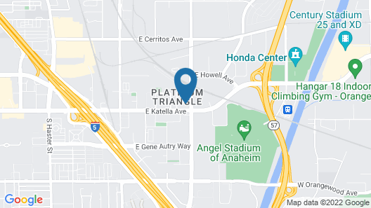 Clean and Sanitized - Long Term Stay - Close to Everything in Anaheim Map