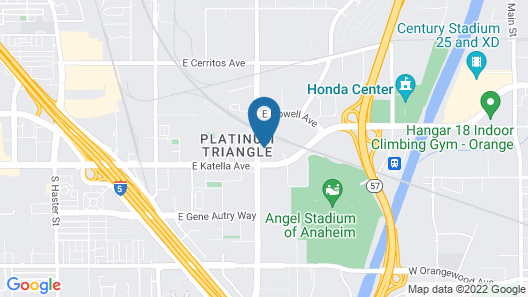 TownePlace Suites By Marriott Anaheim Maingate Near Angel Stadium Map