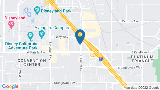 Candlewood Suites Anaheim - Resort Area, an IHG Hotel Map