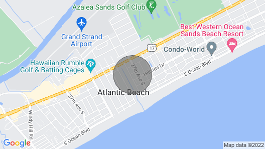 House Blocks From the Beach in the Heart of North Myrtle Beach Map