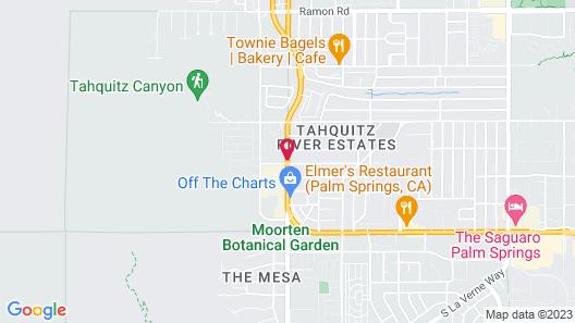 Delos Reyes Palm Springs Map