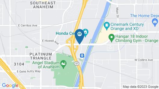 Ayres Hotel Anaheim Map