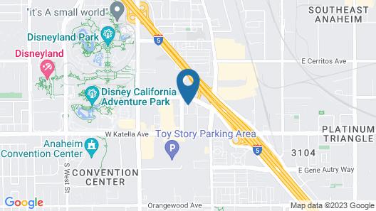 Clementine Hotel & Suites Anaheim Map