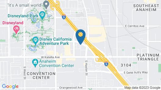 Motel 6 Anaheim, CA - Maingate Map