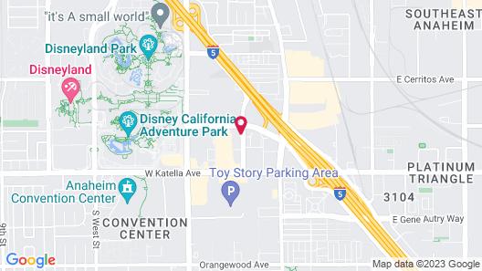 JW Marriott Anaheim Resort Map