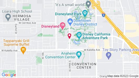 Disney's Paradise Pier Hotel Map