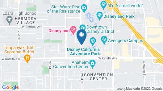 Disney's Paradise Pier Hotel-On Disneyland® Resort Property Map