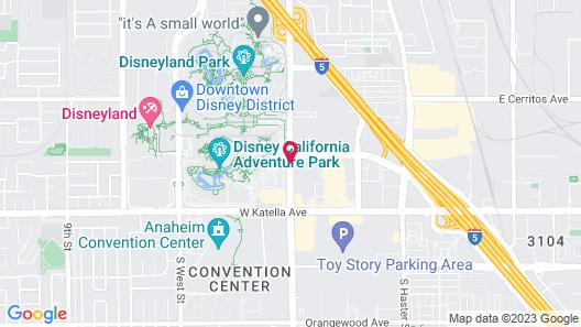 The Anaheim Hotel Map