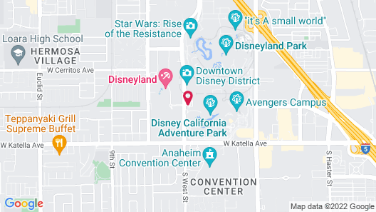 Disney's Grand Californian Hotel and Spa Map