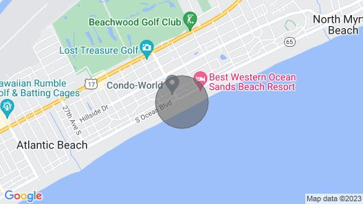 Clean Bright Oceanfront Condo, Jacuzzi Tub, Pools Crescent Shores - N 1403 Map