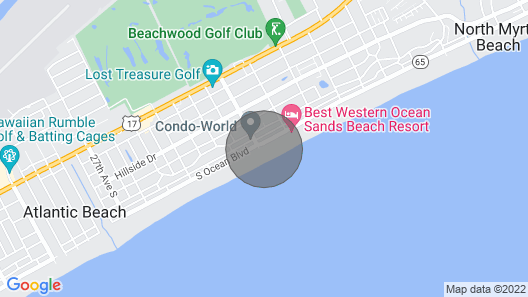 Upscale Oceanfront Condo, Hardwood Floors, Lazy River Crescent Shores - S 408 Map