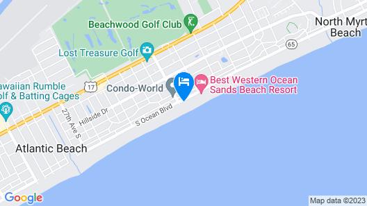 Units at Crescent Shores by Elliott Beach Rentals Map