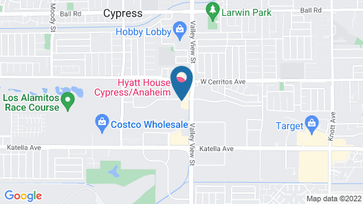 Extended Stay America Suites Orange County Cypress Map