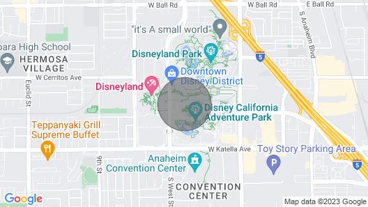 Disneyland Grand Californian Villa Spring Break Map
