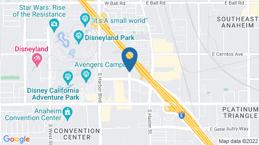 SunCoast Park Hotel Anaheim, Tapestry Collection by Hilton Map