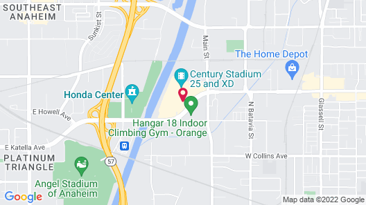 Extended Stay America Orange County - Katella Ave Map