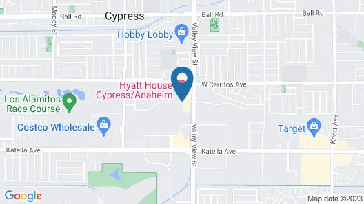 HYATT house Cypress/Anaheim Map