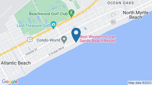 Best Western Ocean Sands Beach Resort Map