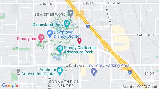 Best Western Plus Anaheim Inn Map