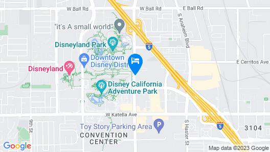 Del Sol Inn - Anaheim Resort Map