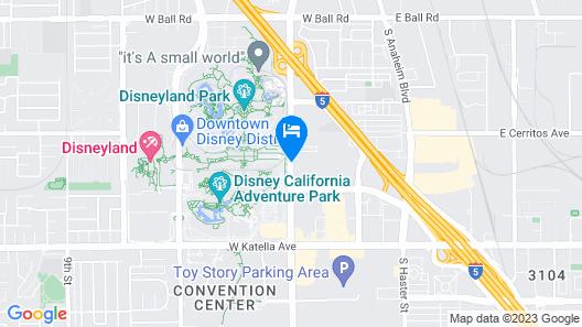 Anaheim Desert Inn and Suites Map